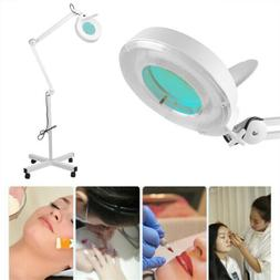 Facial LED Magnifying Lamp with Light Rolling Adjustable Flo