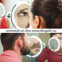Flexible 10X Magnifying Makeup Mirror Suction Wall Mount 360
