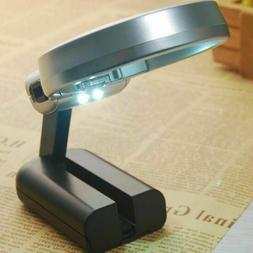 Magnifying Lamp Magnifier Glass with Led Light and Stand 3X