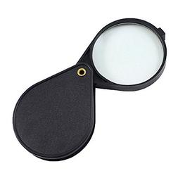 """10x 2"""" Folding Pocket Magnifier Loupe Magnifying Glass Lens"""