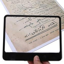 Full Page 3X Magnifier Hands Free Reading Magnifying Glass w