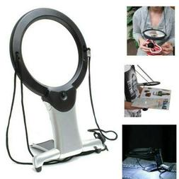 Giant Large Hands Free Magnifying Glass With Light LED Magni
