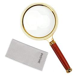 10X Handheld Magnifier, Reading Magnifier Loupe Glasses 10X
