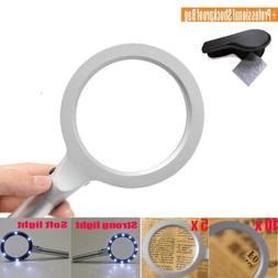 Handheld Magnifying Glass with Light for Seniors Reading 5X