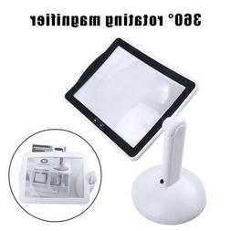 Hands-free 360° 3x Magnifier Magnifying Glass 2-LED Table L