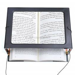 JUOIFIP Hands-Free Magnifying Glass Large Full-Page Rectangu