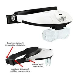 HAWK MG9008 - Light Weight Illuminated Head Magnifier With A
