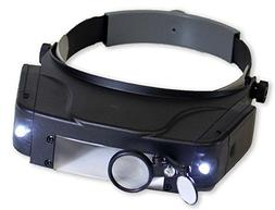 HAWK OPTICALS LED Illuminated Head Magnifier With 4 Lenses A