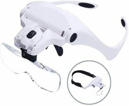 Head Magnifier Glasses Head Mount Magnifying Glasses with Li