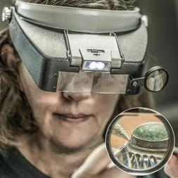 HEAD MAGNIFIER Jewelry Visor Glasses LED Lighted Illuminated