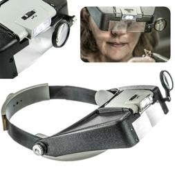 Head Magnifier Jewelry Headband LED Lighted Illuminated Magn