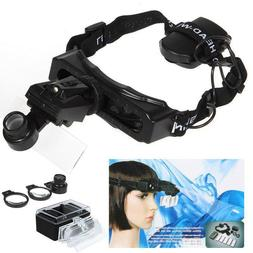 Headband Headset Led Light Magnifier Magnifying Glass Loupe