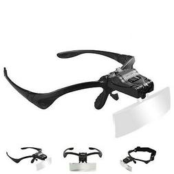 Beileshi Headhand Magnifier Glasses With 2 LED Professional