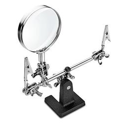 Helping 3rd Hand Magnifier Tool Soldering Iron Base Stand wi