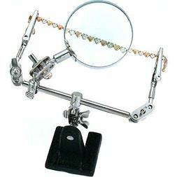 Helping Hand Magnifier 4x with 2 Alligator Clamps Soldering