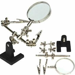 Helping Hand Magnifier Magnifying Glass Jewelry Clamp Holder