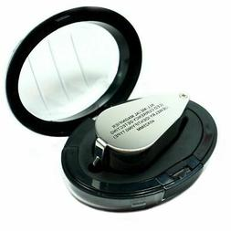 Illuminated 40X Jewelers Loupe  40X25mm Magnifier with LED &