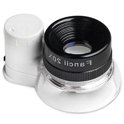 illuminated lighted jewelers loupe magnifier