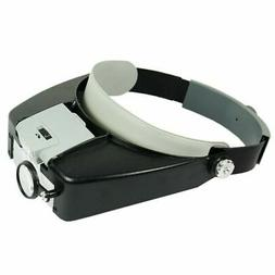Jewelers Head Headband Magnifier LED Illuminated Visor Magni
