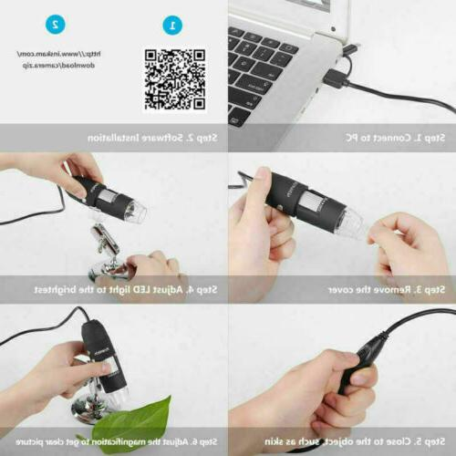 1000X Zoom 3in1 1080P USB Magnifier Endoscope