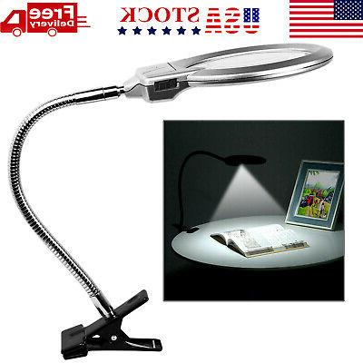 107mm 2 25x 5x flexible magnifying lamp