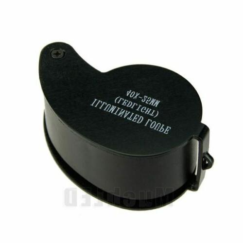 10PCS Magnifier LED Loupe Loop with Case