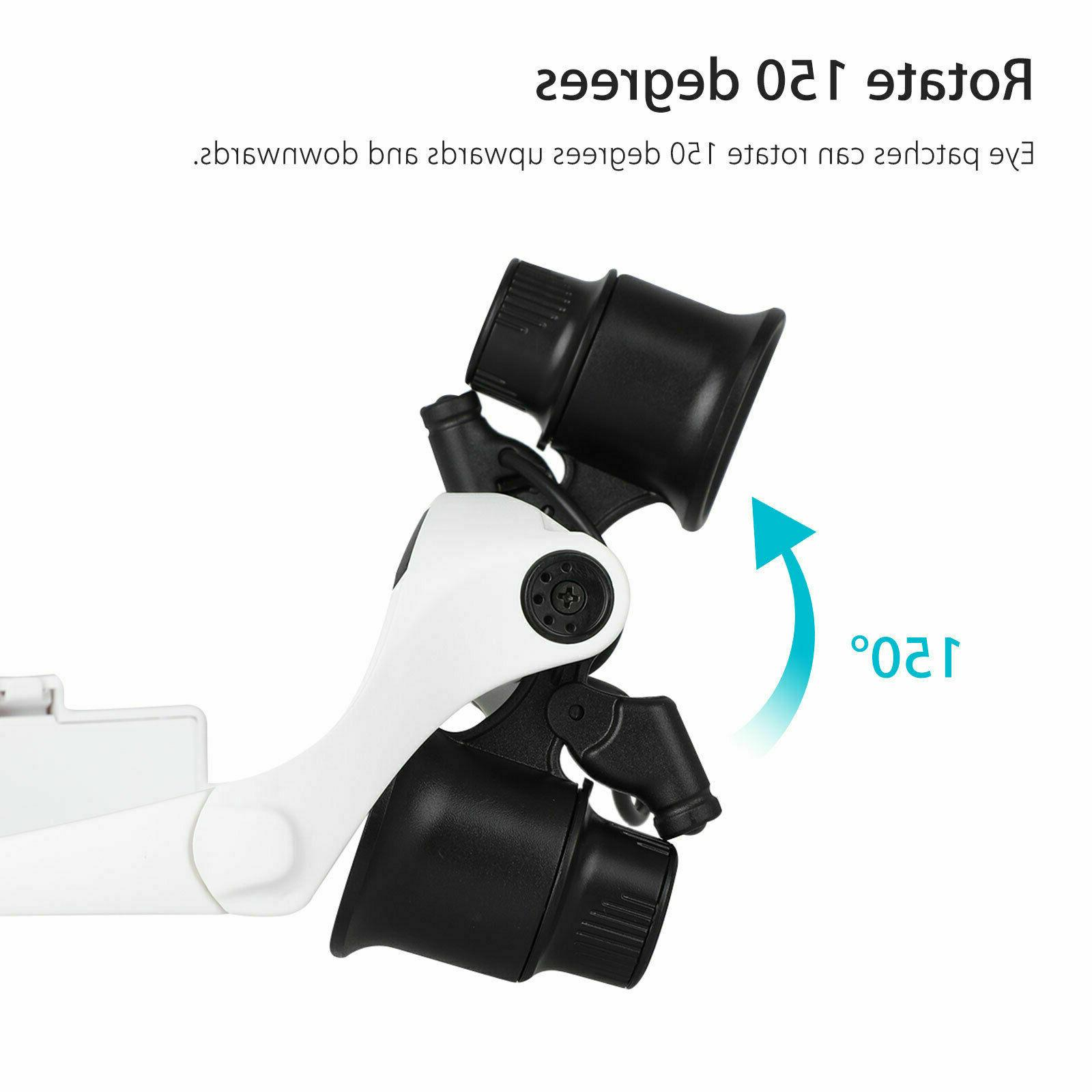 LED Head Glass Jewelry Magnifier US