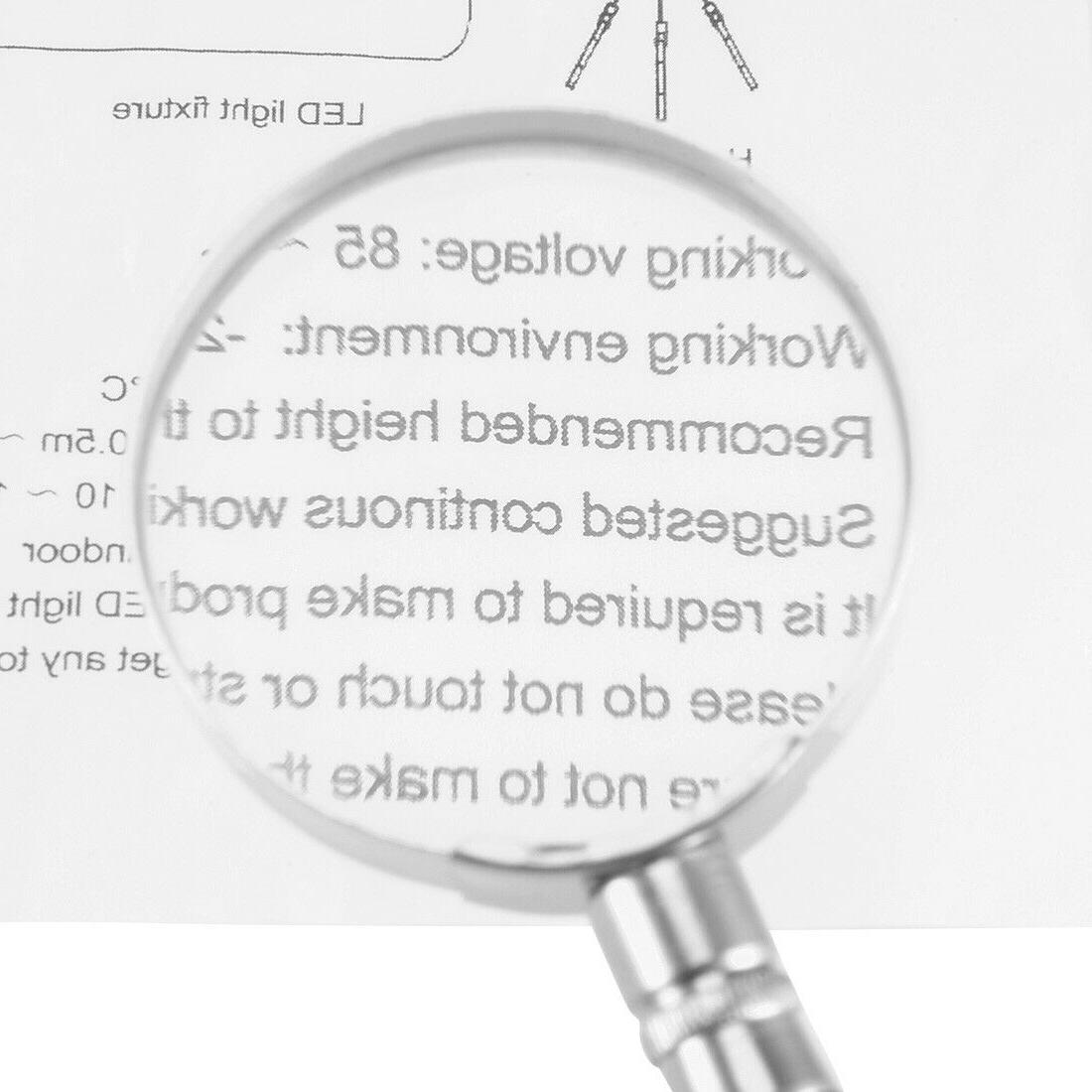 10X Magnifier Magnifying Handle Vision Aid 50mm