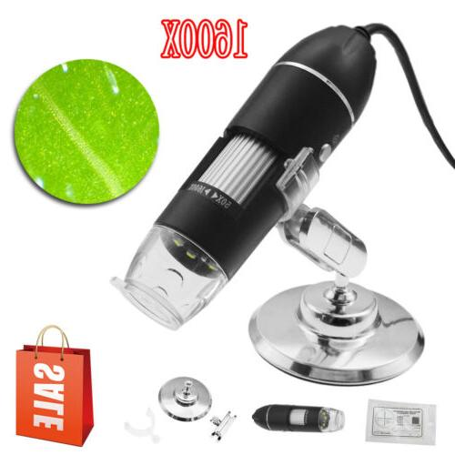1600X 8LED 2MP USB Digital Zoom Camera With