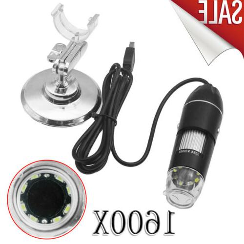 1600x 8led 2mp usb digital microscope endoscope