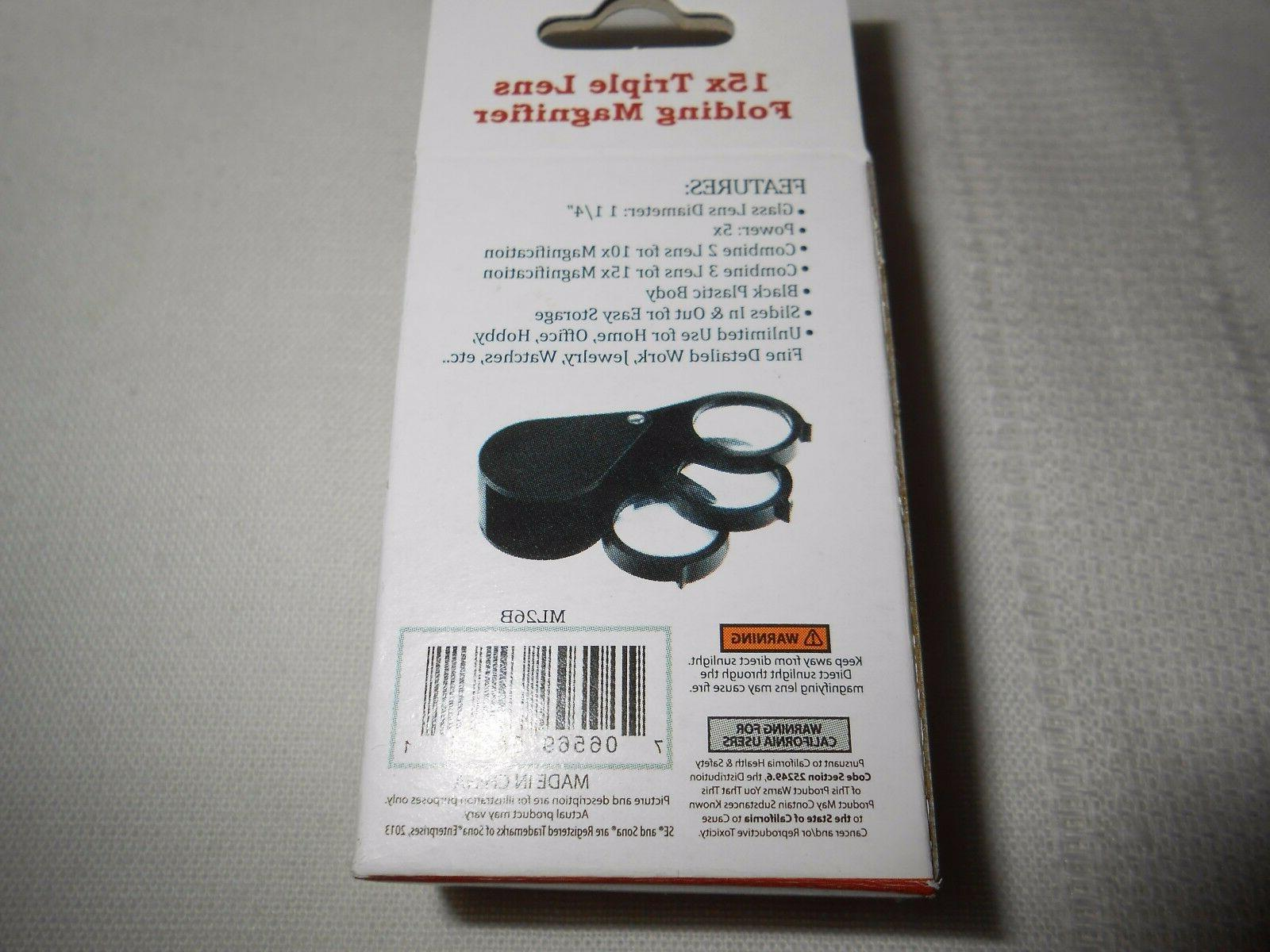 2-Triple Loupe 5X Magnifying Lens #ML26B