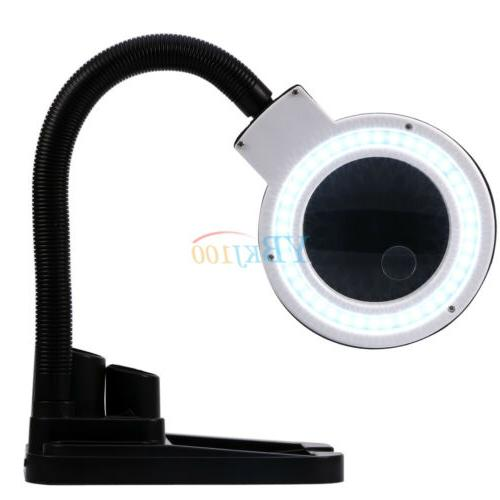 Desk Lamp 5X Magnifier With Lighting