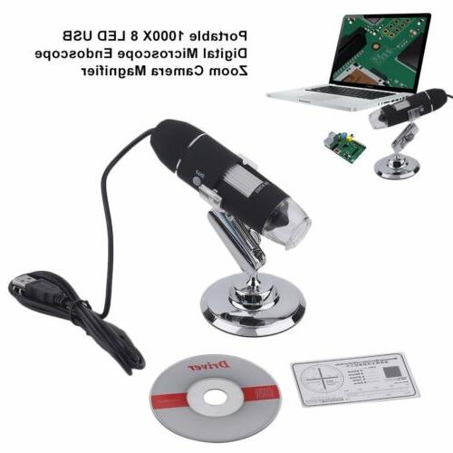 2MP 8 USB Zoom Camera Magnifier & Stand