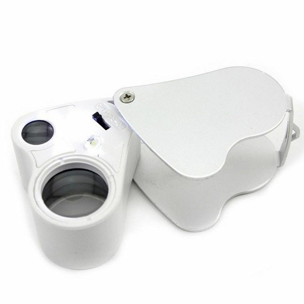 30X & Bright LED Lighted Loupe Magnifier Magnifying