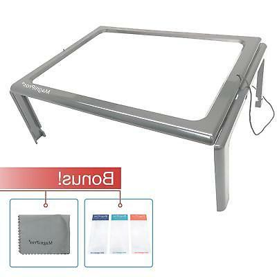3x Hands Free Full Page Free Standing Magnifier With 4