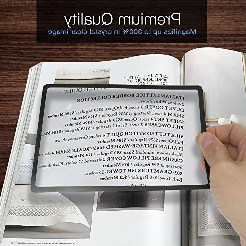 MagniPros Magnifying Lens Bonus Bookmark for Reading Prints, Vision