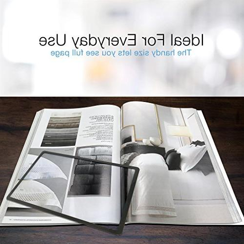 MagniPros Premium 3X Page Magnifying Lens With Bonus Bookmark Reading Small Low Vision Projects