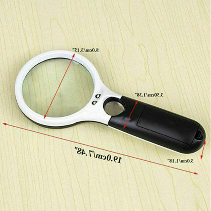 45X Handheld Glass with 3 Magnifier Jewelry