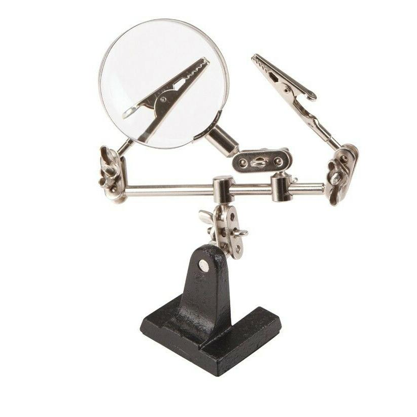 4x optical helping hand soldering stand magnifying