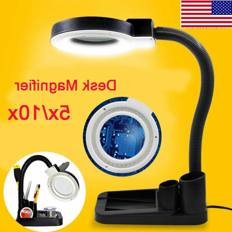 5x 10x magnifier magnifying crafts glass desk