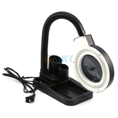 5X 10X Tabletop Magnifying Lamp Magnifier Adjustable Light