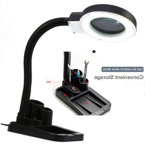 Magnifying Glass Desk Lamp With 10X Magnifier With 40 Lighting -US