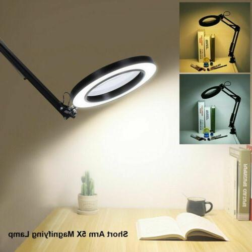 Magnifying Glass Desk Light Lamp With Clamp