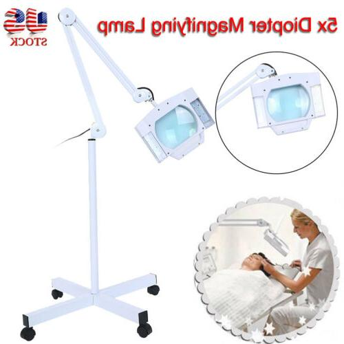 5x diopter led magnifier lamp glass rolling