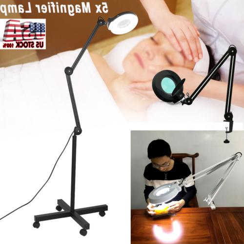 5x magnifier diopter table magnifying floor lamp