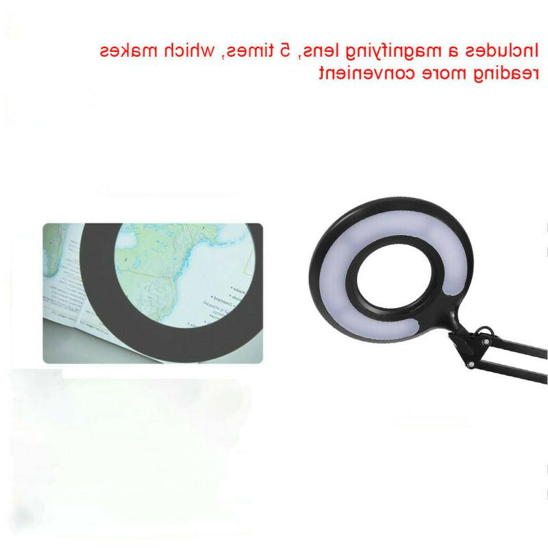 LED Large Lamp Top Magnifier Magnifying with Clamp