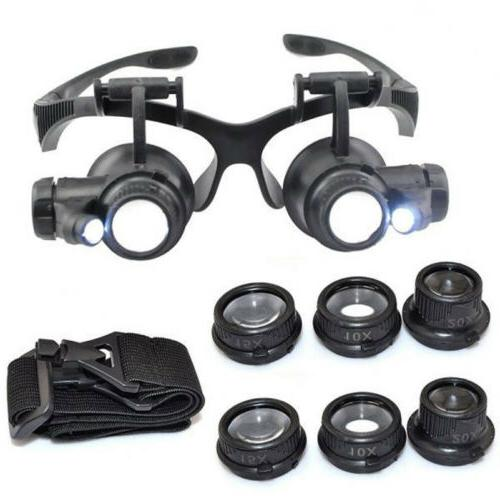 8 lens magnifier magnifying eye glass loupe