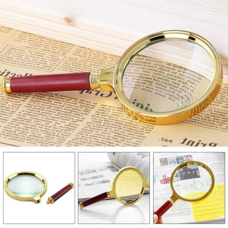 90mm Handheld Magnifier Magnifying Glass Loupe Jewelry Large