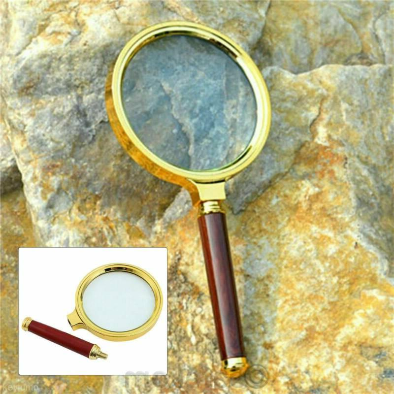 90mm Handheld Magnifying Glass Loupe Reading Jewelry Aid US.