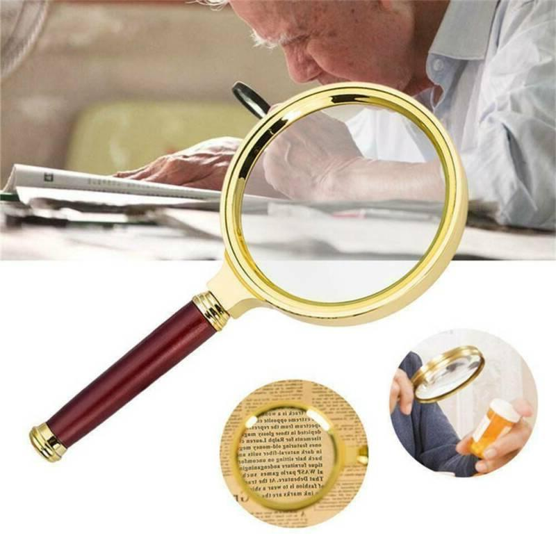 90mm handheld 15x magnifier magnifying glass loupe